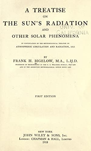 A treatise on the sun's radiation and: Bigelow, Frank H.
