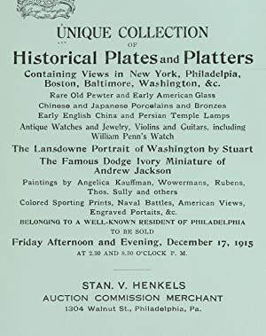 A unique collection of historical china plates: Stan. V. Henkels