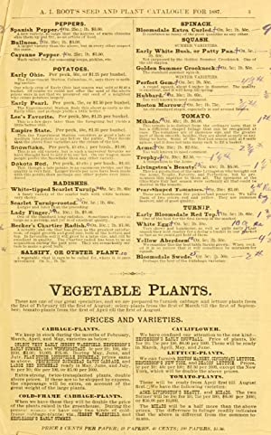 A. I. Root's seed and plant catalogue: Root, A. I.