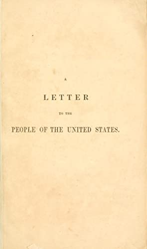 A letter to the people of the: Parker, Theodore, 1810-1860,Pamphlet