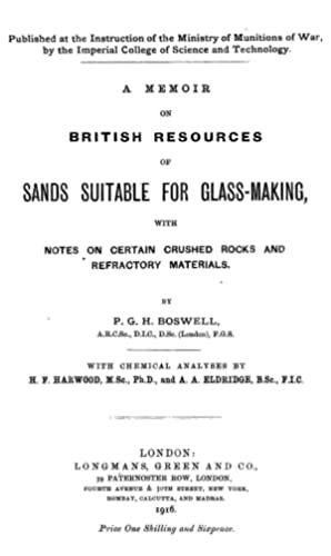 A memoir on British resources of sands: Boswell, P. G.