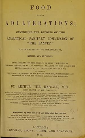 A microscopic examination of the water supplied: Hassall, Arthur Hill,