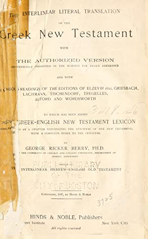 A new Greek-English lexicon to the New: Berry, George Ricker,