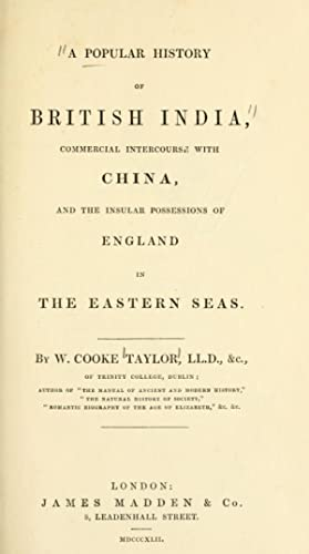 A popular history of British India, commercial: Taylor, W. C.
