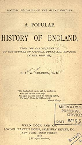 A popular history of England : from: Dulcken, H. W.