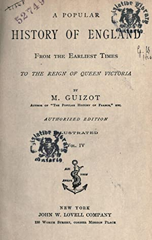 A popular history of England : from: Guizot, M. (François),