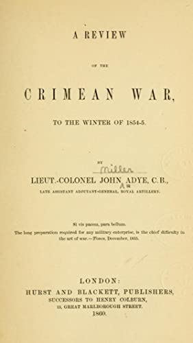 review Crimean War winter 1854-5 - AbeBooks