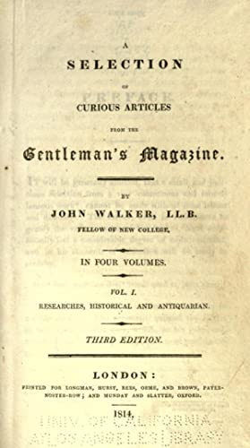 A selection of curious articles from the: Walker, John, 1770-1831