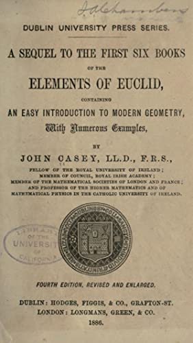 A sequel to the first six books: Casey, John, 1820-1891