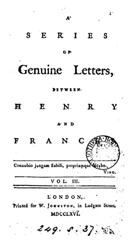 A series of genuine letters between Henry: Richard Griffith ,