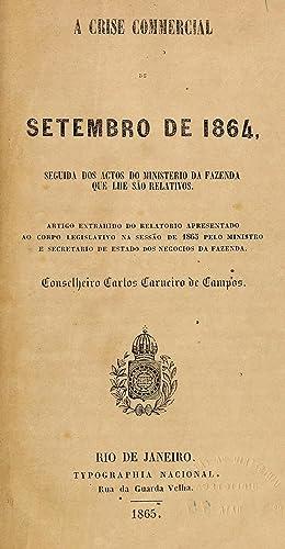 A crise commercial de setembro de 1864,: Carlos Carneiro de