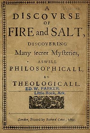 A discovrse of fire and salt : Vigenère, Blaise de,