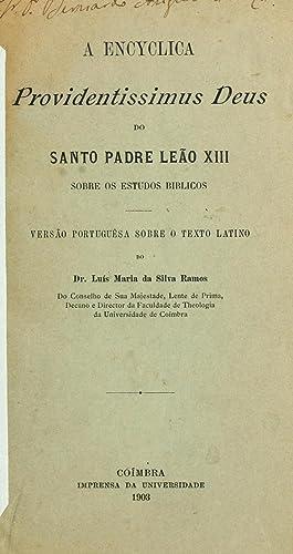 A encyclica Providentissimus Deus do Santo Padre: Catholic Church. Pope