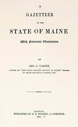 A gazetteer of the state of Maine: Varney, George J.