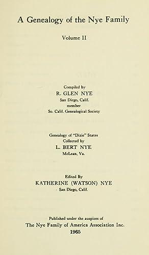 A genealogy of the Nye family (1907): Nye, George Hyatt,