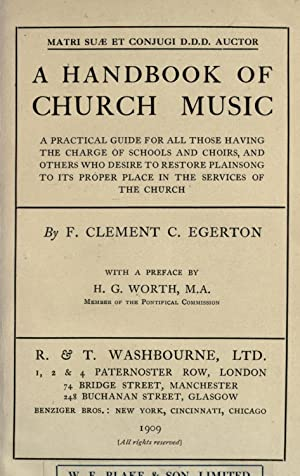 A handbook of church music : a: Egerton, F. Clement