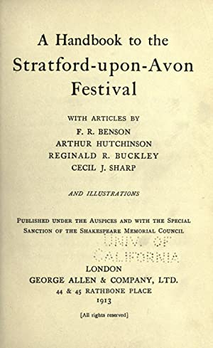 A handbook to the Stratford-upon-Avon festival, with: Shakespeare Memorial Council