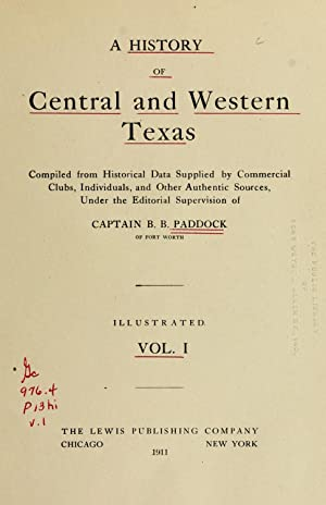 A history of central and western Texas: Paddock, B. B.