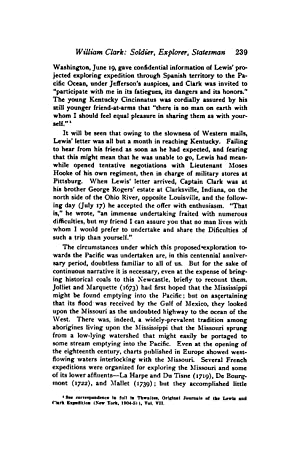 WILLIAM CLARK: SOLDIER, EXPLORER, STATESMAN [Reprint] Volume: THWAITES, REUBEN GOLD