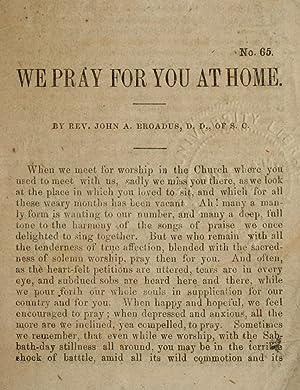 We pray for you at home (1861): Broadus, John Albert,