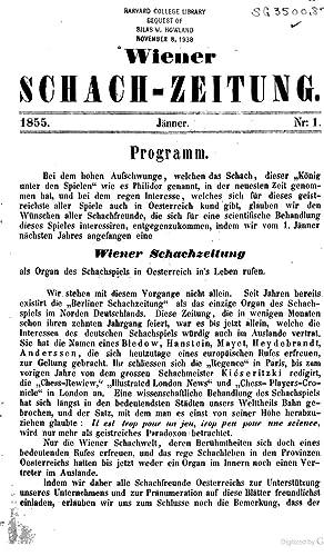Wiener Schach-Zeitung [Reprint] (1855): Falkbeer, Ernest