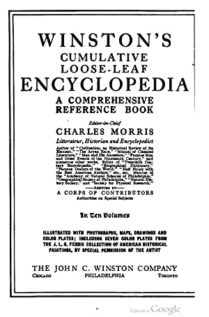 Winston's Cumulative Loose-leaf Encyclopedia [Reprint]: Charles Morris