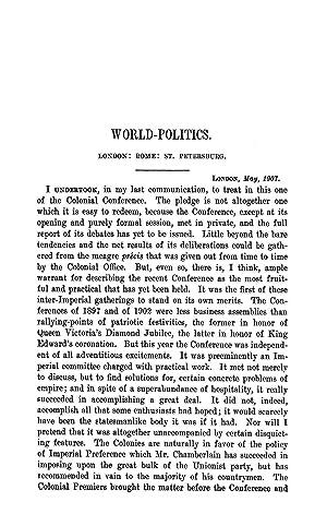 World-Politics. London: Rome: St. Petersburg (1907) (Volume: