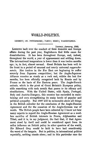 World-Politics. London; St. Petersburg; Paris; Rome; Washington