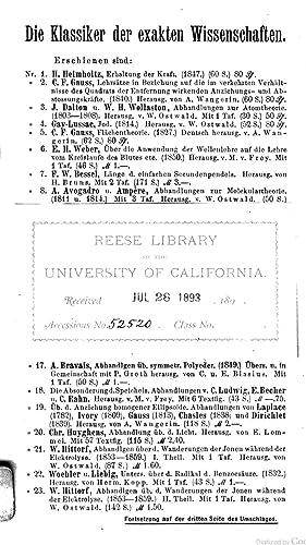 Zwei Abhandlungen über die Wärme (1892) [Reprint]: Lavoisier, Antoine Laurent,