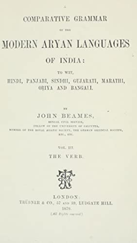 A comparative grammar of the modern Aryan: Beames, John