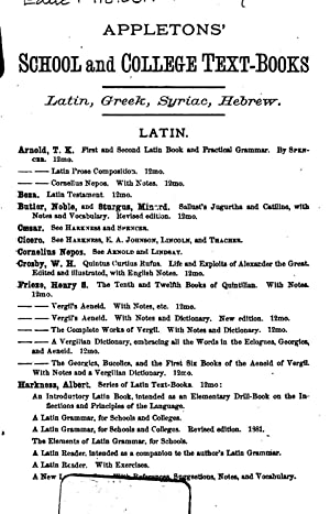 A complete Latin course; the first year,: Harkness, Albert, 1822-1907