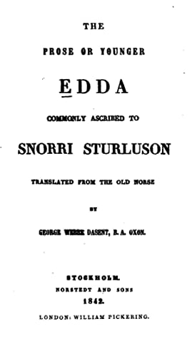 The Prose Or Younger Edda [Reprint]
