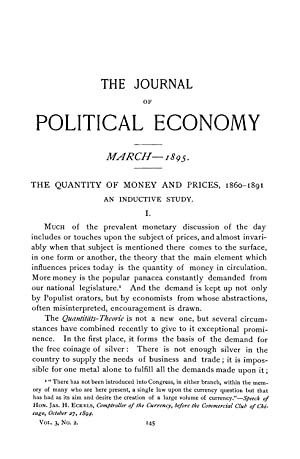 The Quantity of Money and Prices, 1860-1891: Hardy, S. McLean