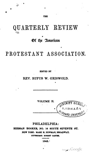 Quarterly Review American Protestant Association - AbeBooks