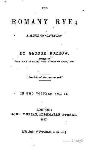 The Romany Rye [Reprint]