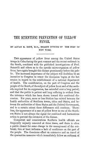 The Scientific Prevention of Yellow Fever (1898): Doty, Alvah H.