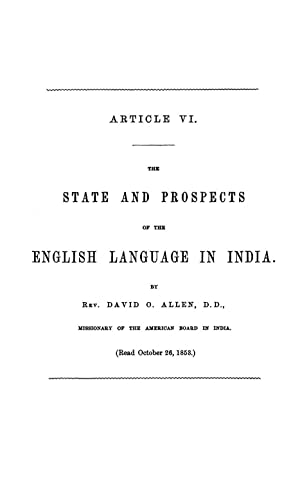The State and Prospects of the English: Allen, David O.