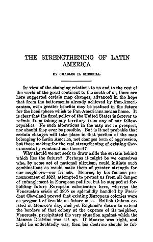 The Strengthening of Latin America [Reprint] Volume: Sherrill, Charles H.