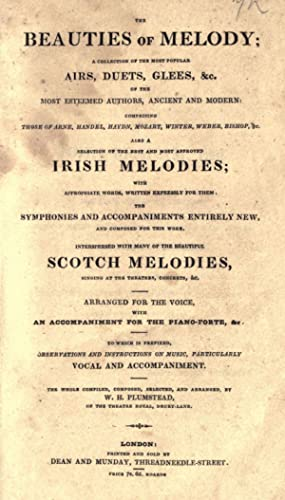 The beauties of melody; a collection of: Plumstead, W. H