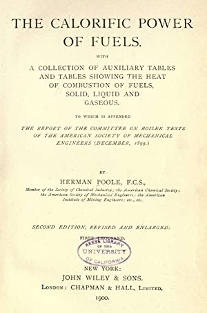 The calorific power of fuels. With a: Poole, Herman, 1849-1906