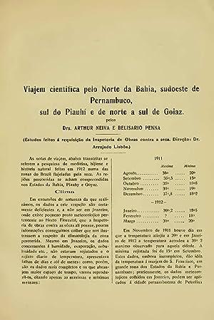 Viajem cientifica pelo Norte da Bahia, sudoeste: Arthur Neiva,Belisario Penna