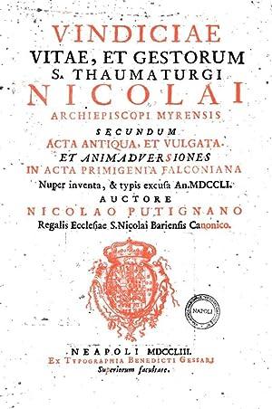 Vindiciae vitae, et gestorum S. Thaumaturgi Nicolai: Niccolo Putignani