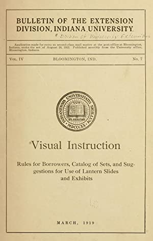 Visual instruction; rules for borrowers, catalog of: Indiana. University. Division