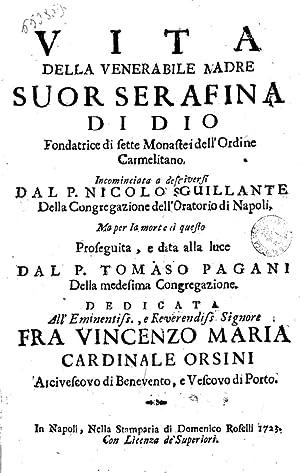 Vita della venerabile madre suor Serafina di: Tomaso Pagani