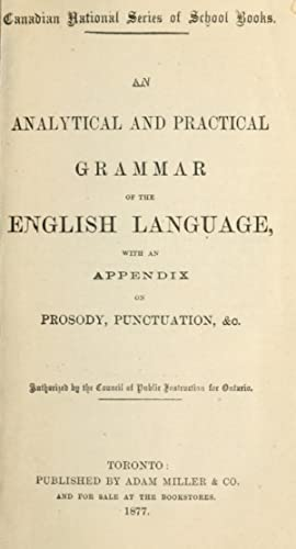 An analytical and practical grammar of the: Davies, H. W.