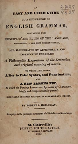 An easy and lucid guide to a: Holloway, Robert S