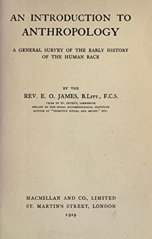 An introduction to anthropology : a general: James, E. O.
