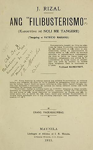 """Ang """"Filibusterismo"""" : (karugtong ng Noli me: Rizal, José, 1861-1896,Mariano,"""