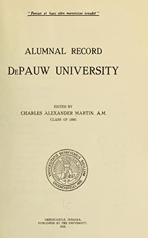 Alumnal record [Reprint] (1910): De Pauw university,