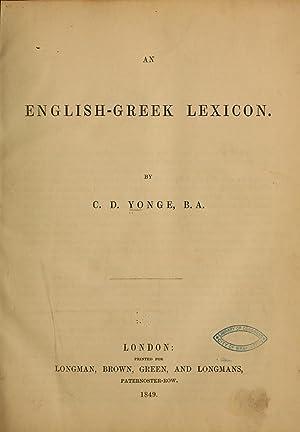 An English-Greek lexicon (1849) [Reprint]: Yonge, Charles Duke,
